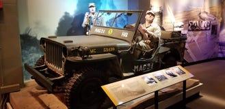 Wereldoorlog II Marine Corps Jeep stock afbeelding