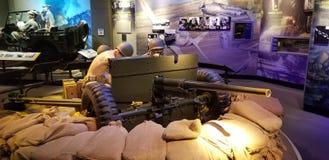 Wereldoorlog II Marine Corps 37mm Anti-Tank Kanon royalty-vrije stock foto's