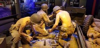 Wereldoorlog II Marine Corps 37mm Anti-Tank Kanon stock afbeeldingen