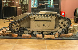 Wereldoorlog twee - kleine tank zijdelings Stock Fotografie