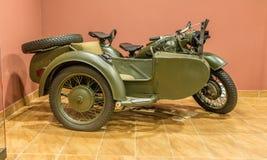 Wereldoorlog twee - motorfiets zijdelings Stock Foto