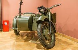 Wereldoorlog twee - motorfietsvoorzijde Stock Afbeelding