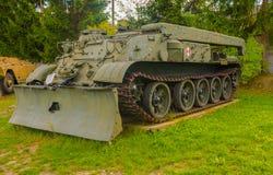 Wereldoorlog twee - tank zijaanzicht Stock Fotografie