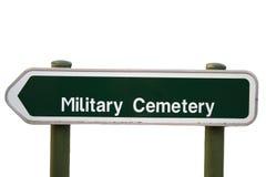 Wereldoorlog van Vlaanderen fileds België van de teken de militaire begraafplaats stock foto