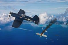 Wereldoorlog 2 vechtersvliegtuigen vector illustratie