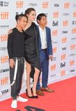 Wereldpremière van ` doodden zij eerst Mijn Vader ` met Directeur Angelina Jolie bij Internationaal de Filmfestival van Toronto stock afbeelding