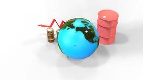 Wereldprijsverhoging voor olie vector illustratie