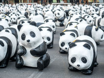 Wereldreis 1.600 panda's in Bangkok Royalty-vrije Stock Fotografie