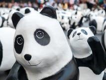 Wereldreis 1.600 panda's in Bangkok Stock Fotografie