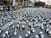 Wereldreis 1.600 panda's in Bangkok Royalty-vrije Stock Afbeelding