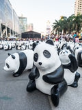 Wereldreis 1.600 panda's in Bangkok Royalty-vrije Stock Foto's
