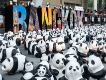 Wereldreis 1.600 panda's in Bangkok Stock Foto