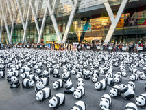 Wereldreis 1.600 panda's in Bangkok Royalty-vrije Stock Foto