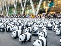 Wereldreis 1.600 panda's in Bangkok Royalty-vrije Stock Afbeeldingen