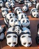 Wereldreis 1600 panda's in Bangkok Stock Foto's