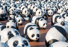 Wereldreis 1600 panda's in Bangkok Stock Fotografie