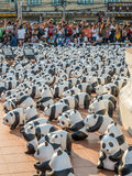 Wereldreis 1600 panda's in Bangkok Stock Foto