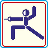 Wereldsport opleiding, pictogram, Illustraties Stock Fotografie