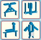Wereldsport opleiding, pictogram, vectorillustraties Royalty-vrije Stock Foto's