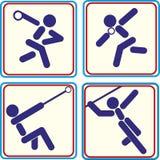 Wereldsport opleiding, pictogram, vectorillustraties Royalty-vrije Stock Afbeelding