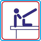 Wereldsport opleiding, pictogram, vectorillustraties Stock Foto's