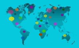 Wereldtalen Vector Illustratie