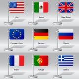 Wereldvlaggen Stock Afbeeldingen