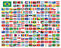 Wereldvlaggen Vlaggen van de Wereld royalty-vrije illustratie