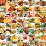 Wereldvoedsel en drankencollage Stock Afbeeldingen