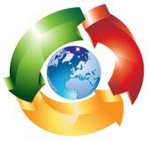 Wereldwijd Stock Afbeelding