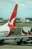 Wereldwijd aan de grond gezete de vloot van Qantas, Australië Royalty-vrije Stock Afbeeldingen