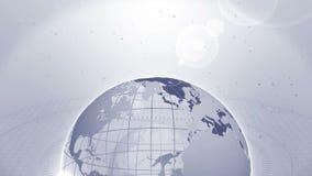 wereldwijd Bedrijfssymbool Aarde grijs Lijnanimatie royalty-vrije illustratie