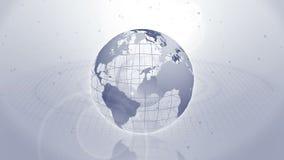wereldwijd Bedrijfssymbool Aarde grijs Lijnanimatie vector illustratie