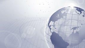 wereldwijd Bedrijfssymbool Aarde grijs Lijnanimatie stock illustratie