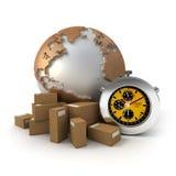 Wereldwijd Uitdrukkelijke leveringen Stock Foto