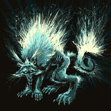 Werewolf. Vector illustration. Isolated object Royalty Free Stock Photos