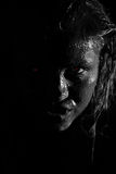 Werewolf. Terrible and sexual girl. Idea for skin-clay products Royalty Free Stock Image