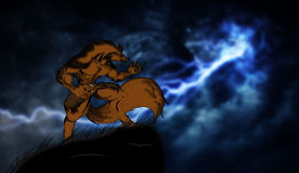 Werewolf backgrounds Royalty Free Stock Photo