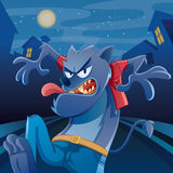Werewolf Cartoon Royalty Free Stock Photography