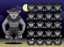 Werewolf Cartoon Emotion faces Vector Illustration Stock Photo