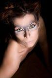 Werewolf che osserva in su immagine stock