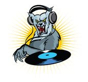 Werewolf DJ vector illustration