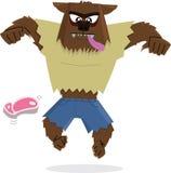 werewolf för teckenhalloween illustration Arkivfoton