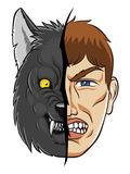 Werewolf face Royalty Free Stock Photos