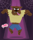 Werewolf halloween character vector illustration stock photos