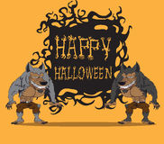 Werewolf. Halloween monster Stock Images