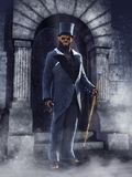 Werewolf man in a Victorian suit Royalty Free Stock Image