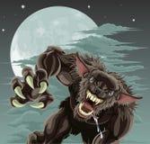 Werewolf moon illustration Stock Photo