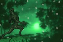Werewolf And Moon Illustration Royalty Free Stock Photo