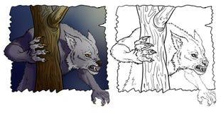 Werewolf. Resident of night - half wolf, half man - a werewolf Royalty Free Stock Photos
